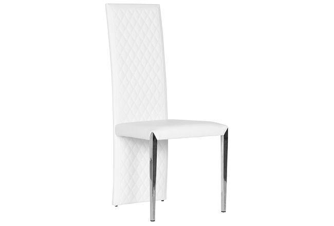 State Street White Upholstered Side Chair