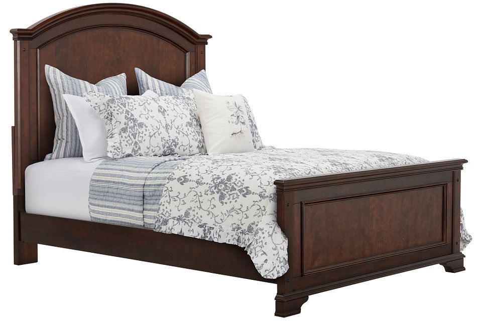 Savannah Dark Tone Panel Bed
