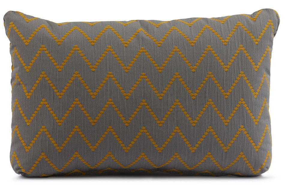 Lulu Gray Lumbar Accent Pillow