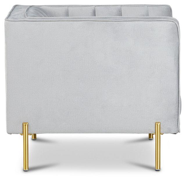 Bella Gray Velvet Chair (2)