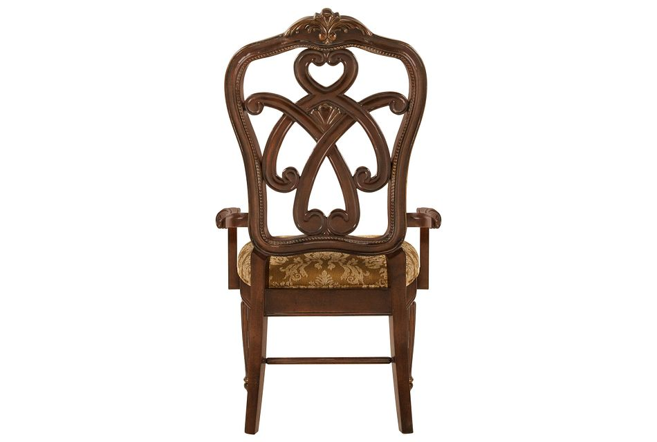 Regal Dark Tone  Wood Arm Chair