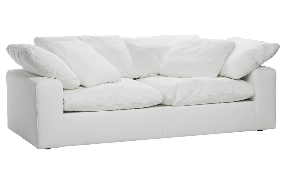 Nixon White Fabric Sofa