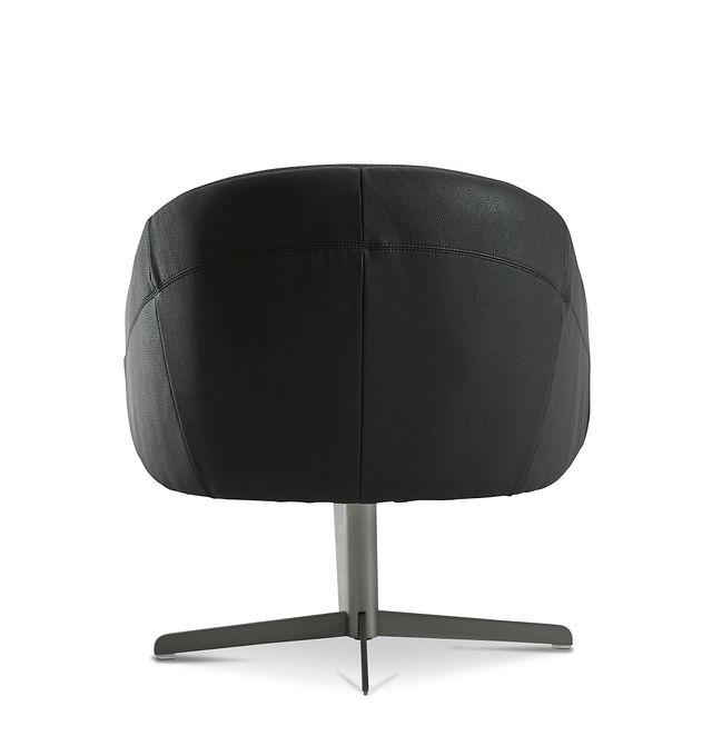 Frankie Black Swivel Accent Chair