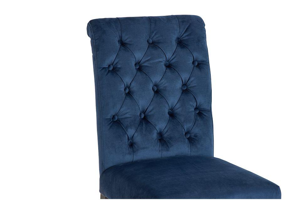 Sloane Dark Blue Upholstered Side Chair