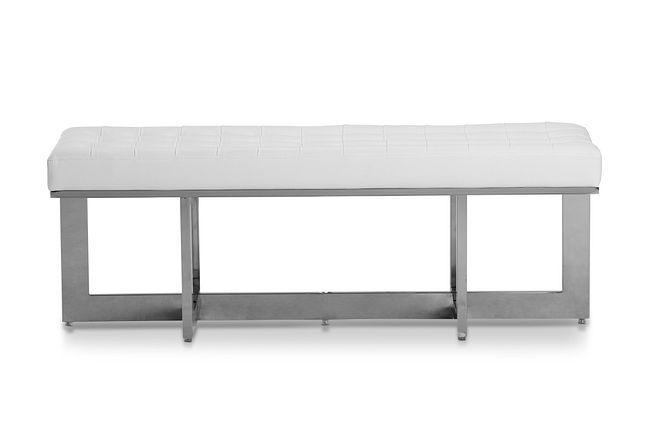 Cortina White Uph Bench