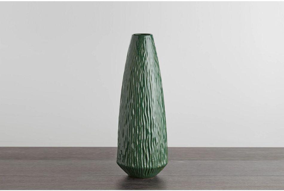Vega Large Green Vase