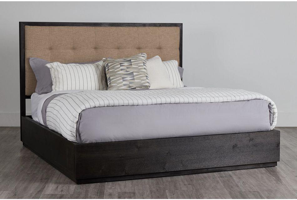 Madden Dark Tone Wood Platform Bed, King (0)