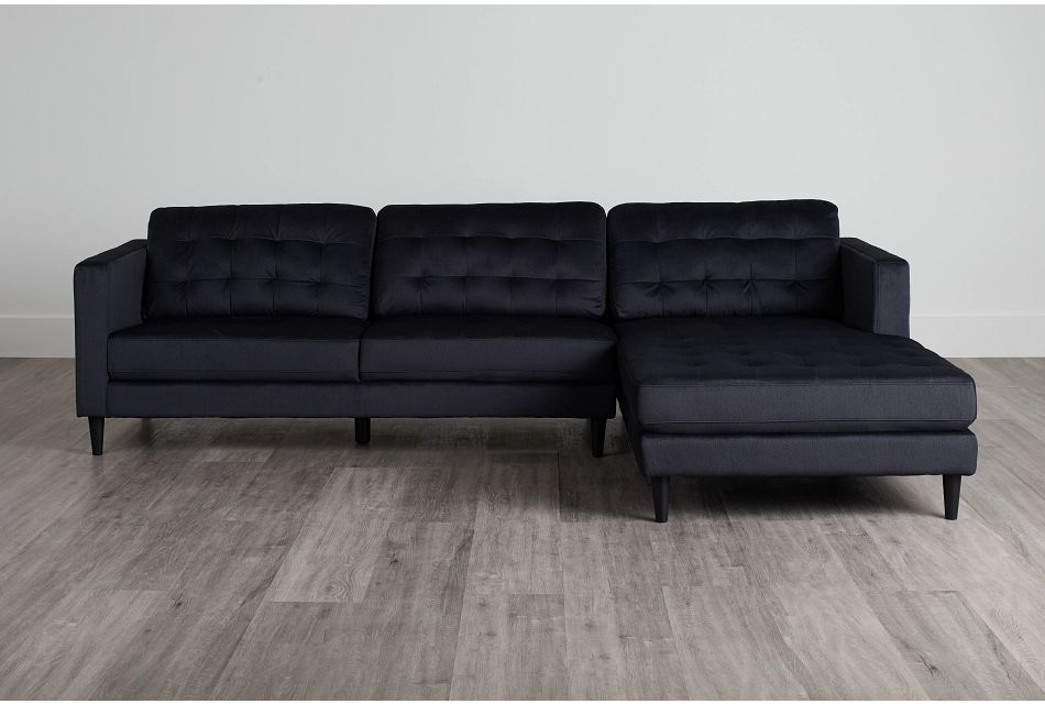 Shae Dark Gray Micro Right Chaise Sectional,