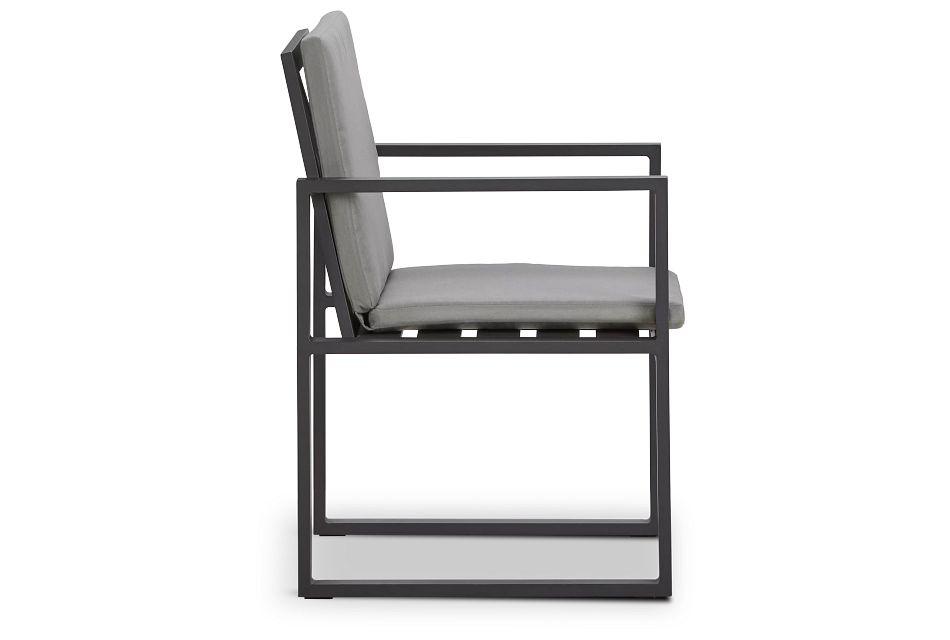 Linear Dark Gray Arm Chair,  (1)
