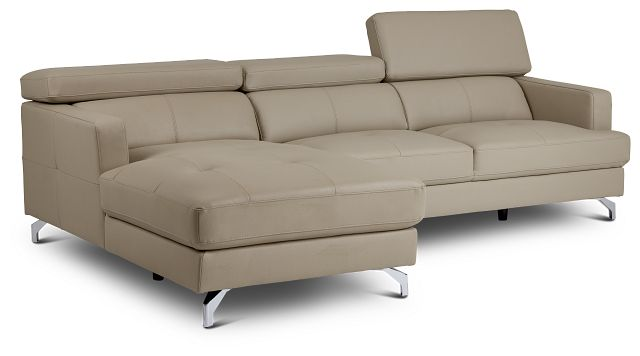Marquez Taupe Micro Left Chaise Sectional (3)