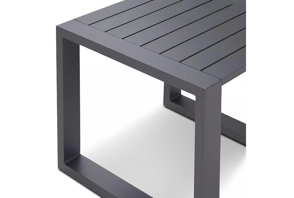 Linear Dark Gray Aluminum End Table