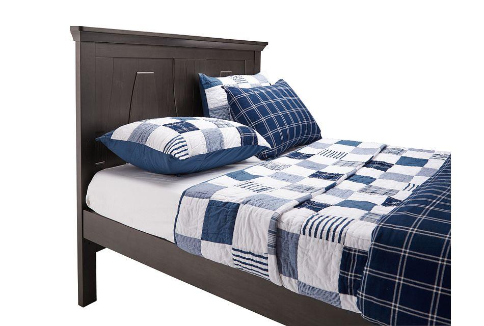 Imperial Dark Tone Panel Bed