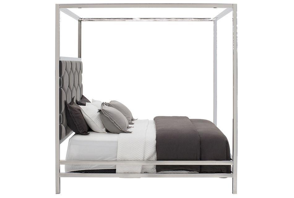 Cortina Gray Canopy Bed, King