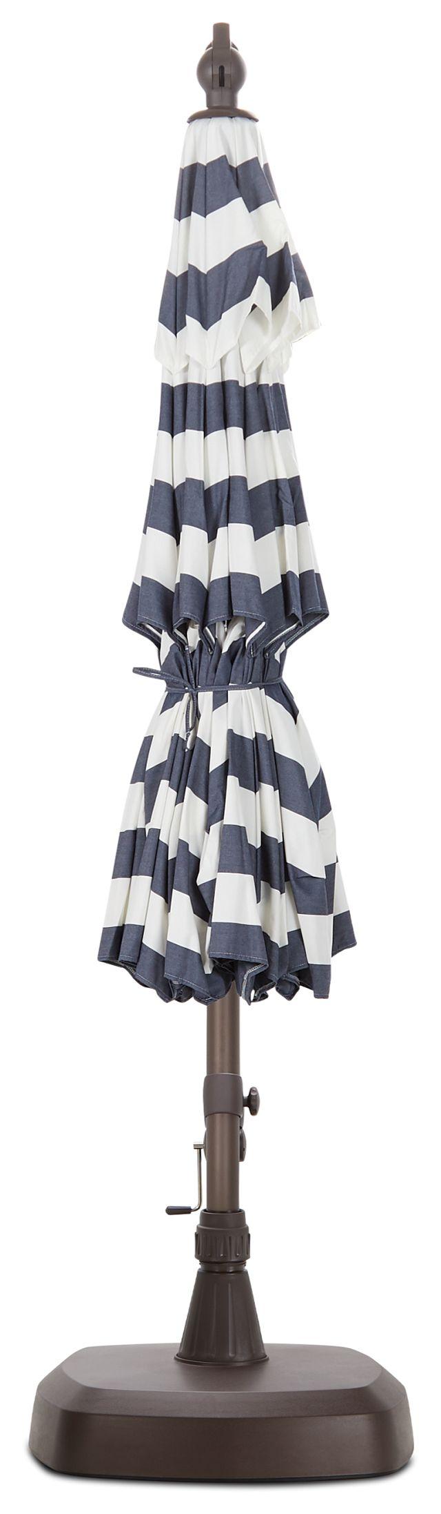 Cayman Dark Blue Stripe Cantilever Umbrella Set (3)