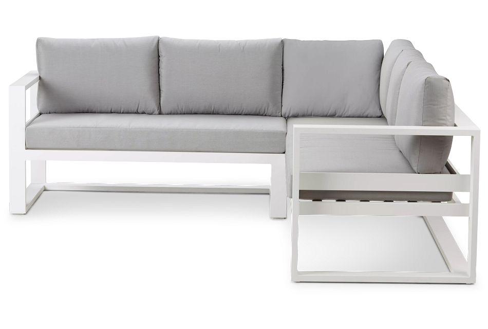 Lisbon Gray Aluminum Small Right Sectional,  (2)
