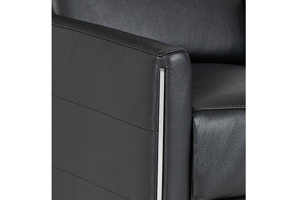 Taylon Black Lthr/vinyl Power Recliner
