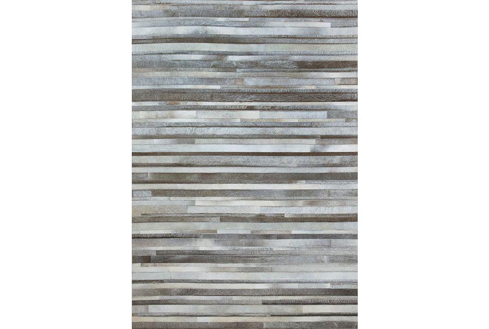 Stripes Gray 8x10 Area Rug