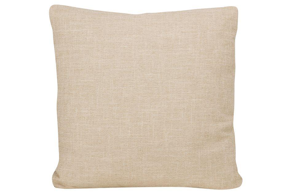 Paradigm Beige Fabric Square Accent Pillow
