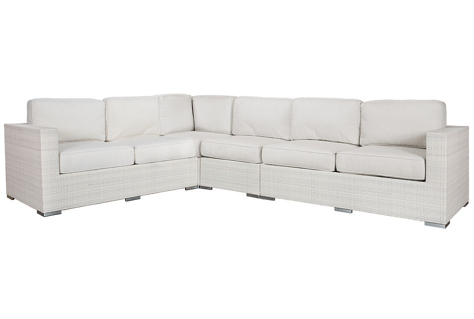Biscayne White Large Two-arm Sectional