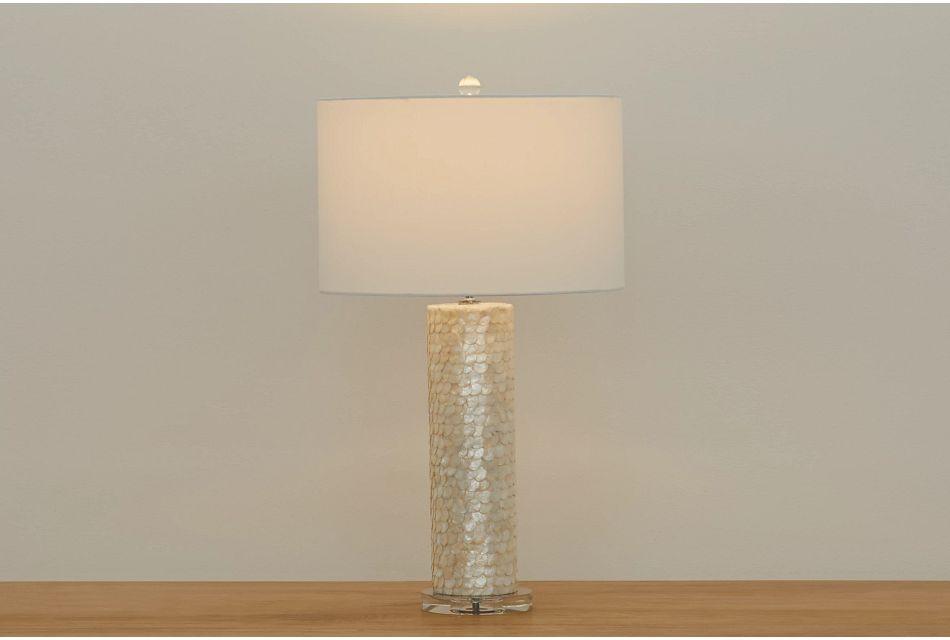 Chiara Light Beige Table Lamp