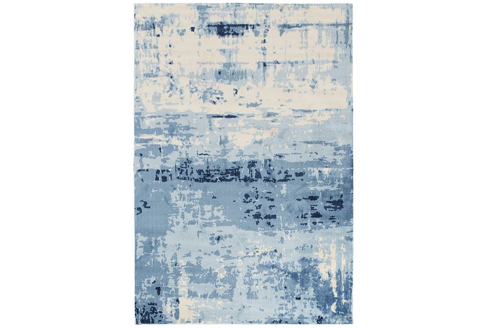 Marble Blue 5x8 Area Rug