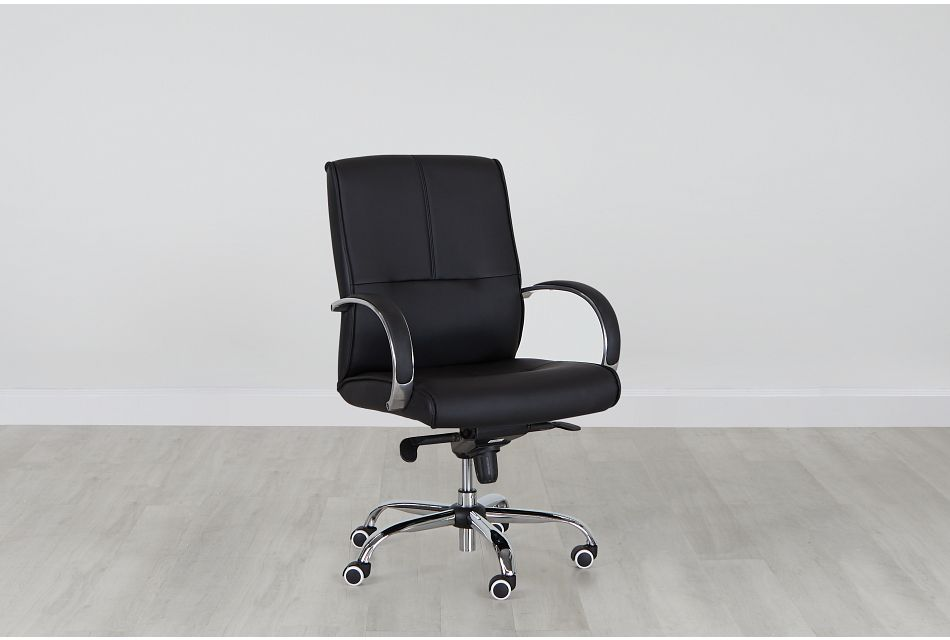 Greeley Black Uph Desk Chair, %%bed_Size%% (0)