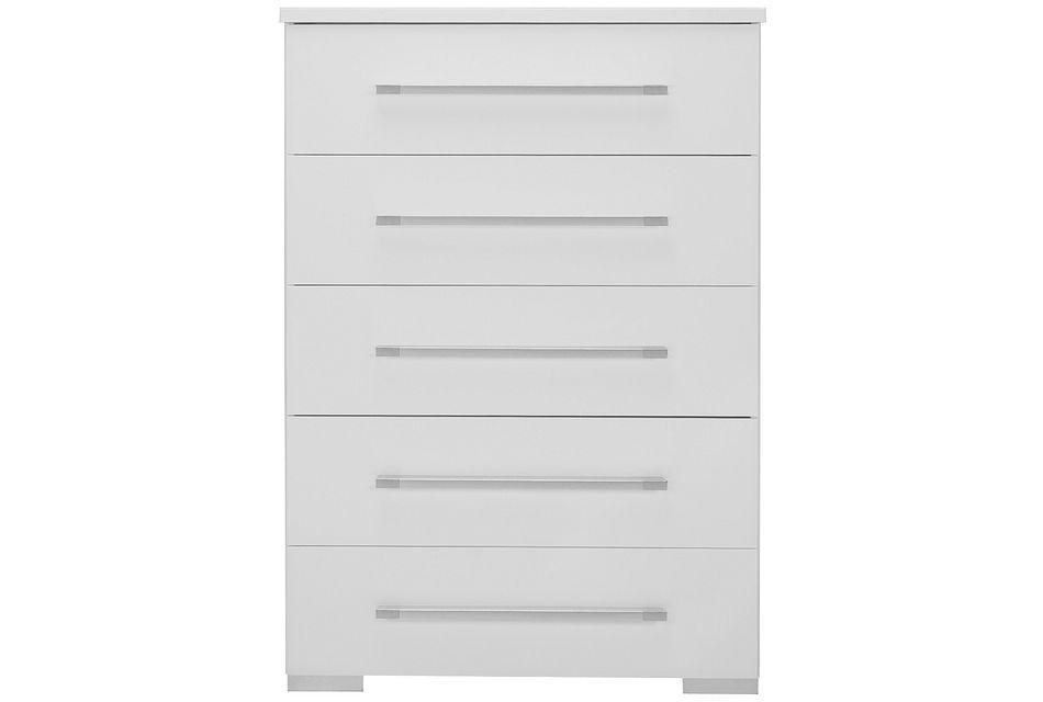Dimora White 5-drawer Chest