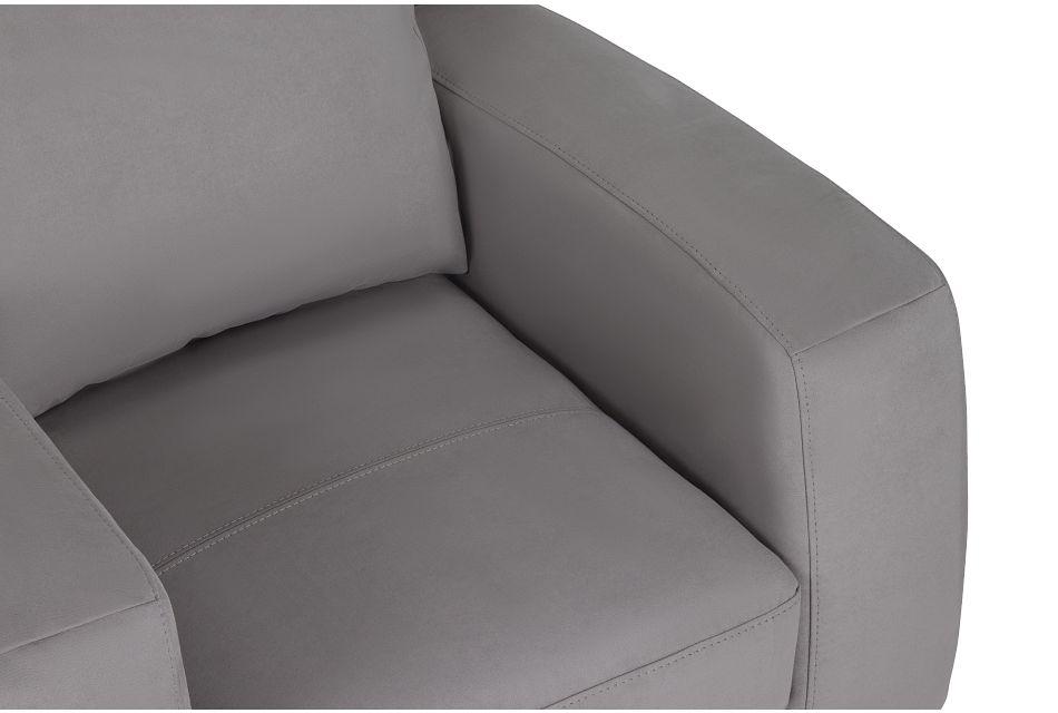 Wynn Light Gray Micro Chair,  (2)