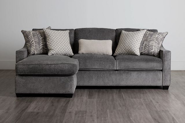 Bianca Gray Fabric Chaise Sectional (0)