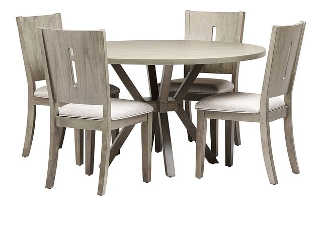 Sienna Gray Round Table & 4 Wood Chairs (0)