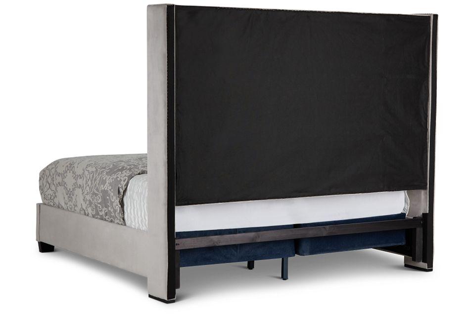 Sloane Light Gray Uph Shelter Bed