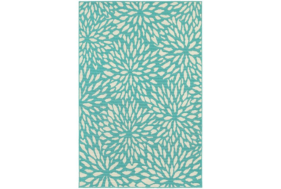 Mirium Teal Indoor/outdoor 8x10 Area Rug