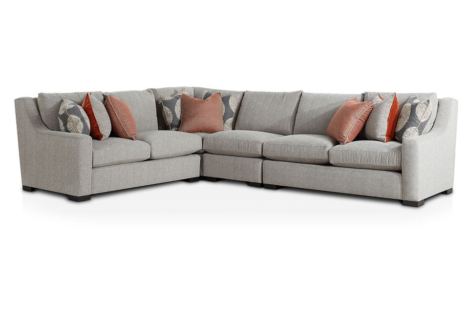 Germaine Gray Fabric Medium Two-arm Sectional