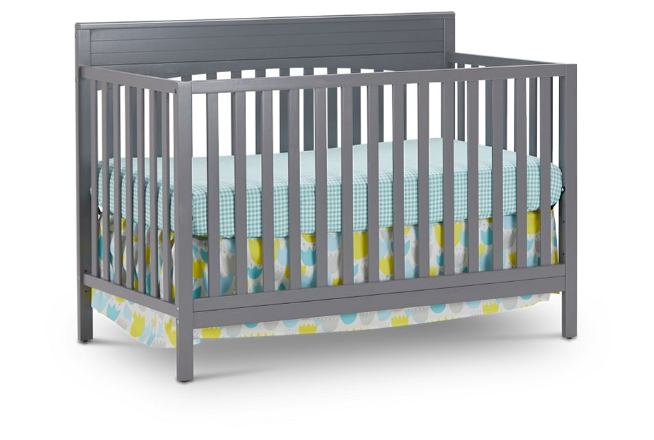 Parker Gray 4-In-1 Crib, %%bed_Size%% (1)