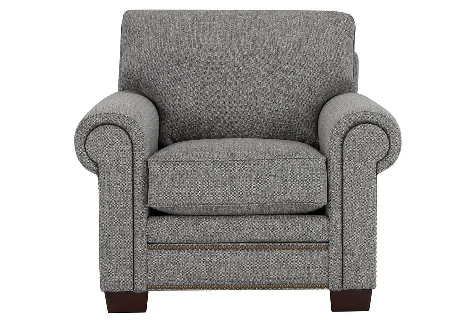 Foster Gray Fabric Chair