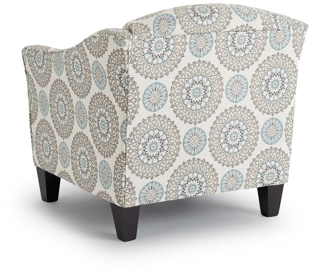 Meadow Multicolored Fabric Accent Chair