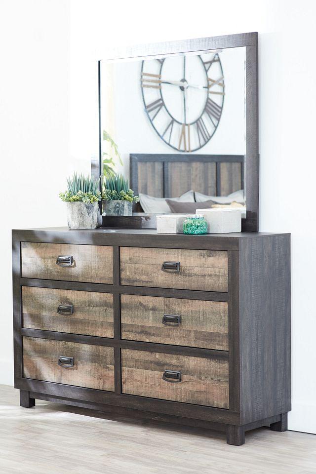 Harlington Dark Tone Dresser & Mirror (1)