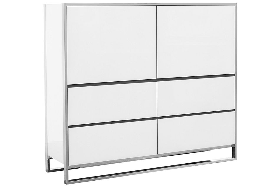 State Street White Drawer Chest