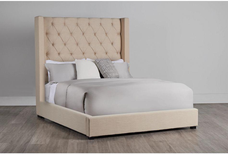 Lacey Beige Uph Platform Bed, Queen (0)