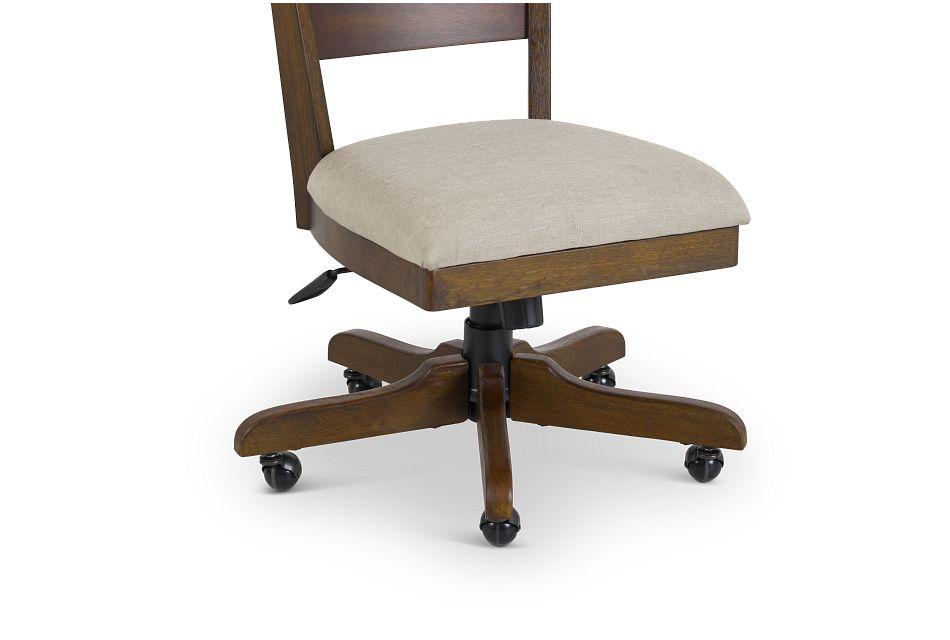 Vista Mid Tone Wood Desk Chair