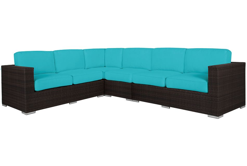 Fina Dark Teal Large Two-arm Sectional