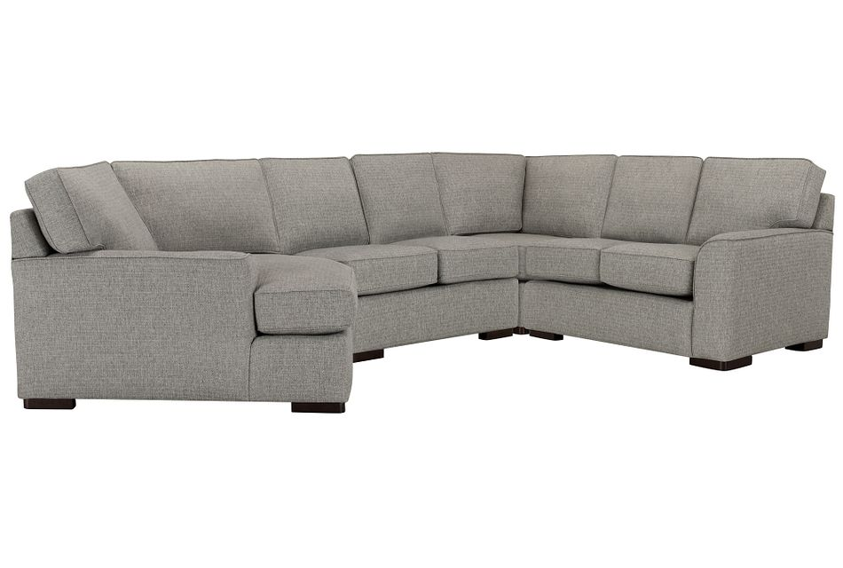 Austin GRAY FABRIC Small Left Cuddler Sectional