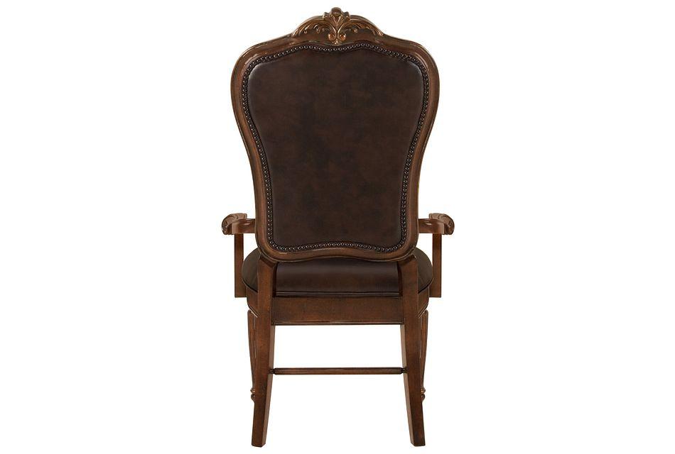 Regal Dark Tone Leather Arm Chair