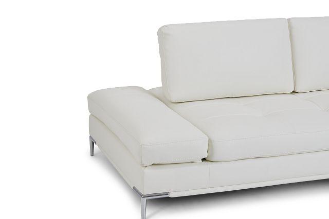 Camden White Micro Sofa
