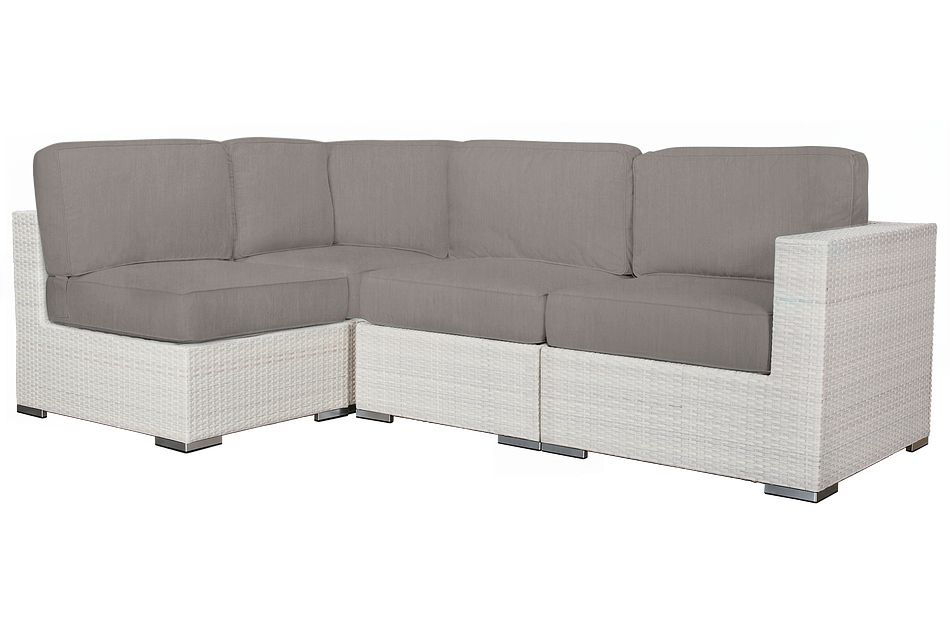 Biscayne GRAY  4-Piece Modular Sectional
