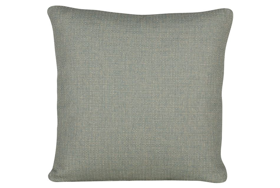 Austin Green Fabric Square Accent Pillow