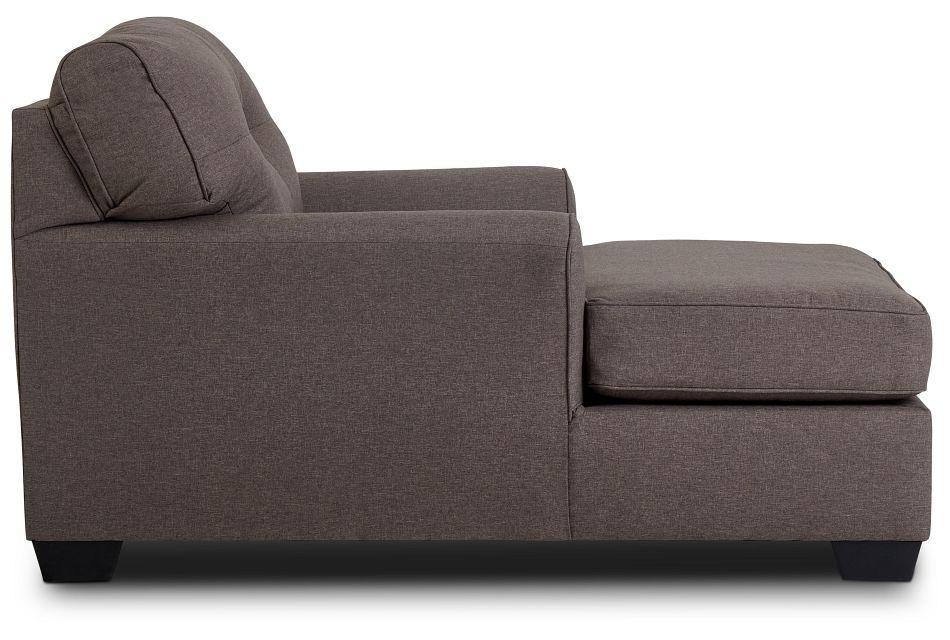 Laryn Dark Gray Micro Chaise,  (3)