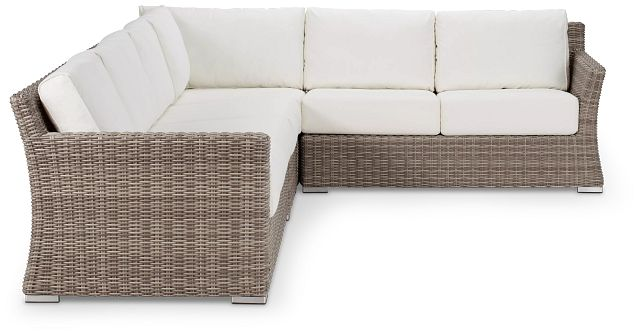 Raleigh White Woven Large Two-arm Sectional (0)