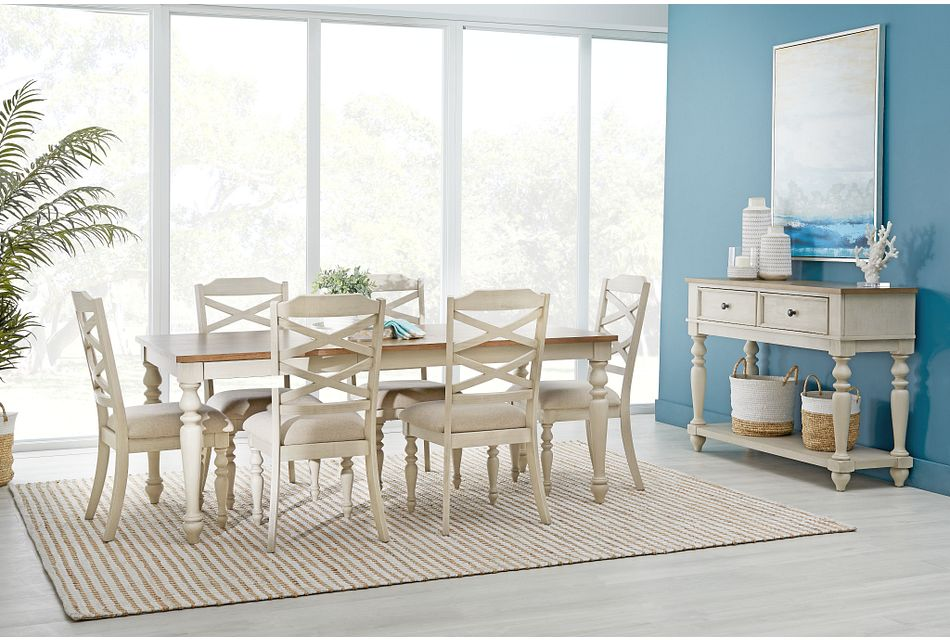 Lexington Two-tone Rect Dining Room