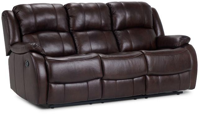 Dalton Medium Brown Lthr/vinyl Reclining Sofa (2)